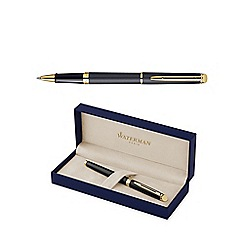 Waterman - Matte black gold trim hemisphere 10 roller ball