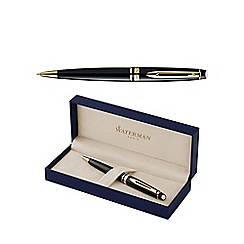 Waterman - Lacquer black gold trim expert 3 medium ball pen