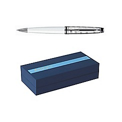 Waterman - White chrome trim expert 3 ball pen