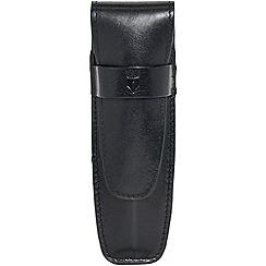 Kingsley - black leather pen pouch 'Carlos' single