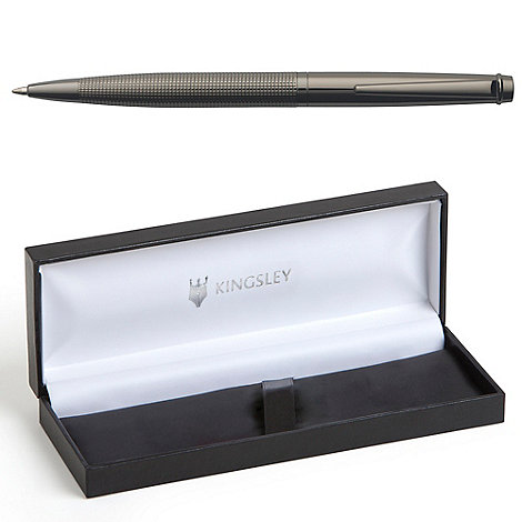 Kingsley - Gunmetal chequer ball pen