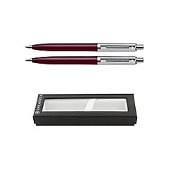 Sheaffer - Burgundy chrome sentinel ball pen & pencil set