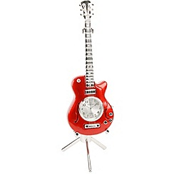 Widdop Bingham - red miniature guitar clock