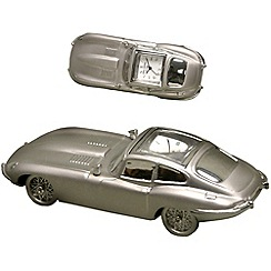 Widdop Bingham - chrome miniature e-type car clock