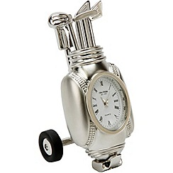 Widdop Bingham - chrome miniature golf cart clock