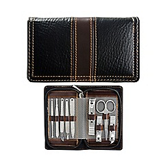 Maranda - Black and brown 9 piece manicure set