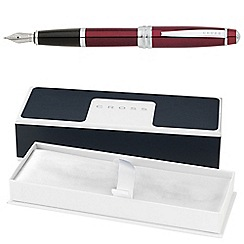 Cross - Red lacquer bailey medium fountain pen