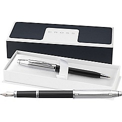 Cross - Black & chrome 'Century II' fountain pen/ball pen