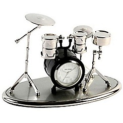 Widdop Bingham - black miniature drum kit clock
