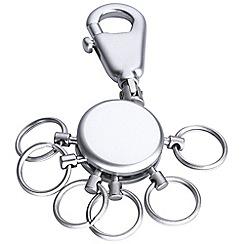 Troika - Chrome 6 mini-ring keyring