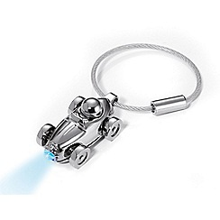 Troika - Chrome racecar LED keyring torch