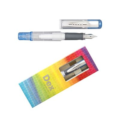 Blue dex compact clear fountain pen - . -