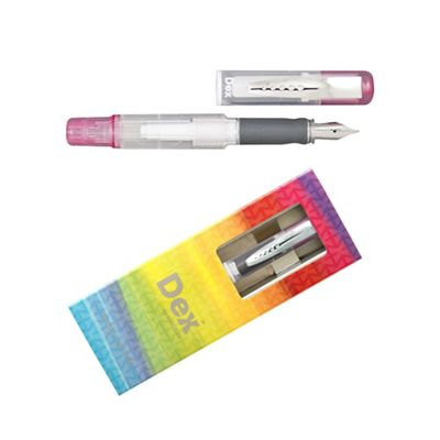 Pink dex compact clear fountain pen - . -