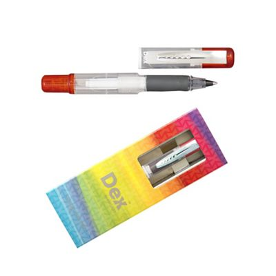 Red dex compact clear ink liner - . -