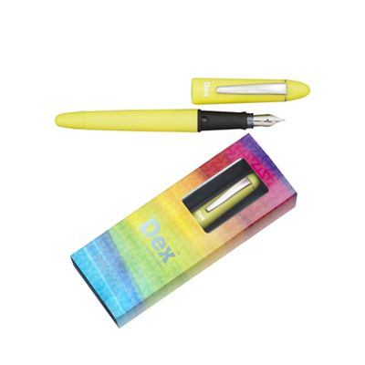 Acid green dex compact soft fountain pen - . -