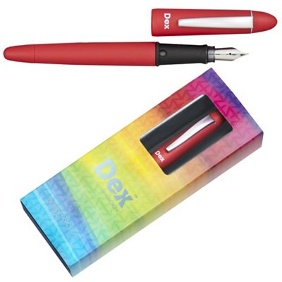 Scarlet dex compact soft fountain pen - . -