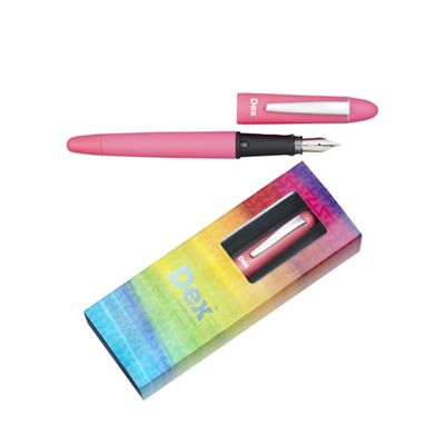 Bright pink dex compact soft fountain pen - . -