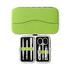 Maranda - green suede 6 piece manicure set