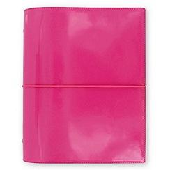 Filofax - Hot pink 'Domino' patent a5 organiser