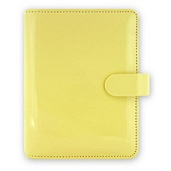 Filofax - Lemon patent pocket organiser lemon