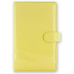 Filofax - Lemon patent compact organiser