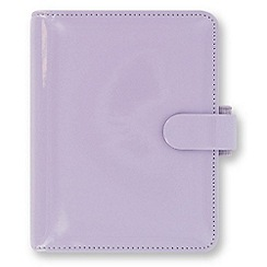 Filofax - Lavender patent pocket organiser