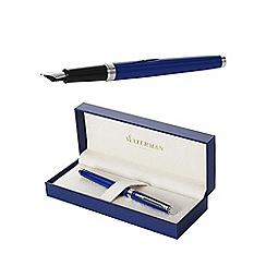 Waterman - Blue chrome trim hemisphere fountain pen