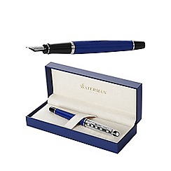 Waterman - Blue chrome trim expert deluxe fountain pen