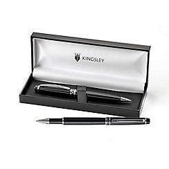 Kingsley - Black Warwick Ball Pen & Rollerball