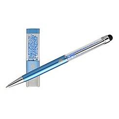 Kingsley - Blue Crystal Ball Pen USB