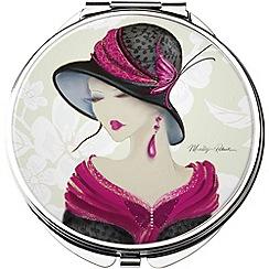 Maranda - chrome 'Amelia' compact mirror
