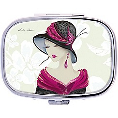 Maranda - chrome 'Amelia' pill box