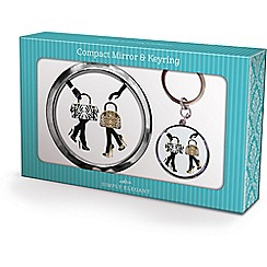 Maranda - chrome 'bags and shoes' mirror and keyring
