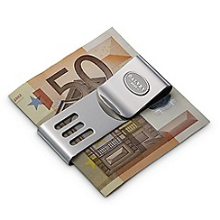 Dalvey - brushed chrome 'Sport' double moneyclip