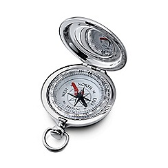 Dalvey - brushed chrome 'Sport' compass compact