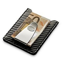 Dalvey - carbon black card case with moneyclip