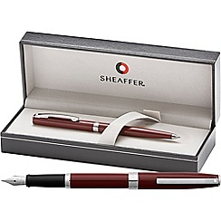 Sheaffer - gloss wine 'Sagaris' fountain pen/ball pen