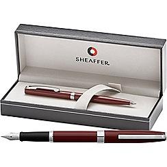 Sheaffer - gloss wine 'Sagaris' fountain pen/ball pen