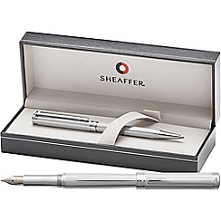 Sheaffer - fluted chrome 'Intensity' fountain pen/ball pen