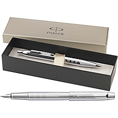 Parker - Chisel chrome 'IM Premium' fountain pen/ball pen
