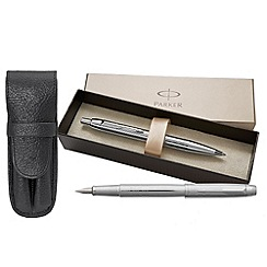 Parker - Chrome IM Premium Fountain Pen Ball Pen