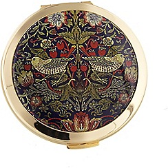Stratton - gold plate 'strawberry thief' loose powder compact