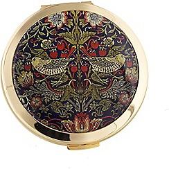 Stratton - gold plate 'strawberry thief' dual mirror