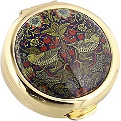 Stratton - gold plate 'strawberry thief' pill box