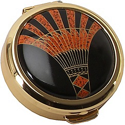 Stratton - gold plate 'art deco' pill box