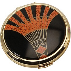 Stratton - gold plate 'art deco' compact loose powder