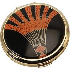 Stratton - gold plate 'art deco' compact mirror