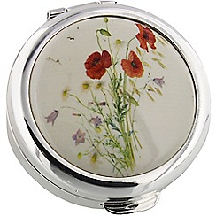 Stratton - silver 'poppy' pill box