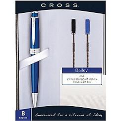 Cross - blue 'Bailey' ball pen with 2 extra refills