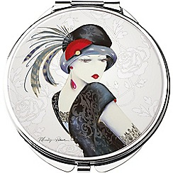 Maranda - chrome 'Sophia' compact mirror